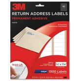 "Address Labels,Inkjet Paper,2/3""x1-3/4"",1500/PK,White"