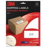 "Shipping Labels,Inkjet Paper,2""x4"",250/PK,White"