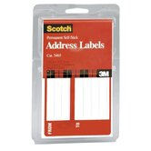 "Address Labels, From/To, 4-5/8""x2-7/8"", 25 per Pack, White"