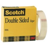 Double-sided Tape, With Liner, 3&quot;Core, 1&quot;x36Yards, Clear