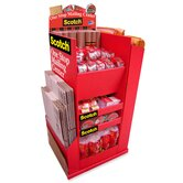Mailing Supplies Display, Floorstand, Red