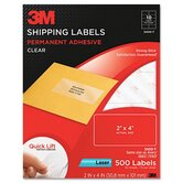 Permanent Adhesive Laser Mailing Labels in Clear (500 Per Pack)