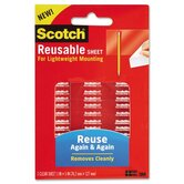 Scotch Restickable Mounting Tabs, 1 Sheet/Pack