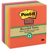 390 Sheet 3&quot; x 3&quot; Post-it Super Sticky Recycled Note