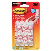 Mini Hook with Command Adhesive (6 Pack)