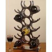 15 Bottle Cast and Polished Solid Aluminium Wine Rack