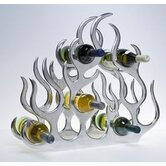 10 Bottle Cast and Polished Solid Aluminium Wine Rack