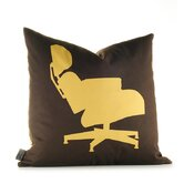 Modern Classics Pillow in Chocolate and Sunflower