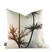 Morning Glory Prairie Pillow in Rust and Charcoal