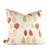 Aequorea Rhythm Collage Pillow in Pear and Rust