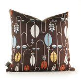 Aequorea Carnival Pillow in Chocolate and Cornflower