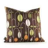 Aequorea Carnival Pillow in Chocolate and Sunshine