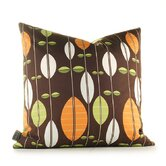 Aequorea Carousel Pillow in Chocolate and Sunshine