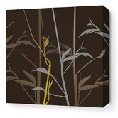Morning Glory Tall Grass Stretched Wall Art in Charcoal and Olive