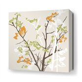Ailanthus Stretched Wall Art in Wheat