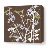 Ailanthus Stretched Wall Art in Chocolate