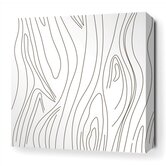Madera Stretched Wall Art in White