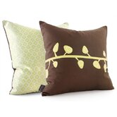 Sprout Throw Pillow in Chocolate