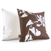 Morning Glory Throw Pillow in Chocolate