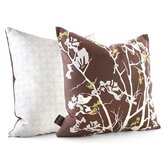 Ailanthus Throw Pillow in Chocolate