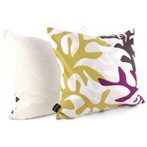 Reef Throw Pillow in Plum