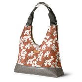 Reagan Flowering Pyrus Handbag in Rust