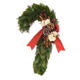 Holiday Apple Spice Candy Cane Wreath