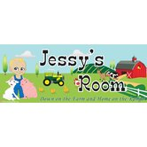 Personalized Canvas Farm Boy Name Sign