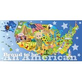Personalized Canvas Wall Mural Patriotic Boy