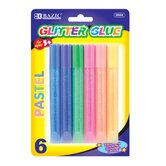 Pastel Glitter Glue Pen (Set of 6)
