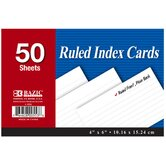 "4"" x 6"" Ruled Index Cards"