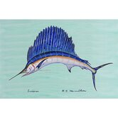 Coastal Sailfish Door Mat