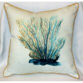 Coastal Blue Coral Indoor / Outdoor Pillow