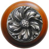 English Garden Chrysanthemum Wood Knob