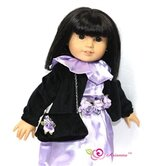Mystic Dress, Caplet and Handbag Doll Outfit