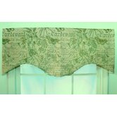 Butterfly Linen Shaped Valance