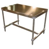 Aluminum I Frame Work Table with Stainless Steel Top