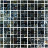 "Geo Glass Square 12"" x 12""  Glass Mosaic in Black"