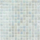 "Geo Glass Square 12"" x 12""  Glass Mosaic in White"