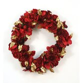 Artificial Rose, Dahlia and Amaryllis Wreath