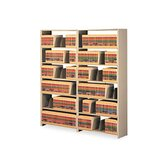 "Snap-Together Open Shelving Steel 7-Shelf Closed Add-On Unit, 48"" Wide"