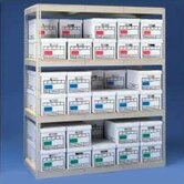 Archive Box Storage Rack with Particleboard Decking