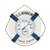 """S.S. Minnow"" Outdoor Thermometer and Clock"