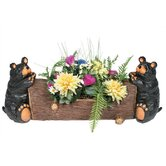 Two Bear Square Planter