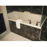 "Designer Kayla 74"" W X 42"" D Bath Tub with Combo System"