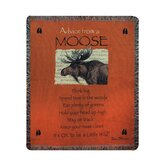 Advice From a Moose Tapestry Throw