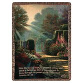 Garden of Grace Verse Tapestry Throw