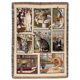 Kitty Corner Tapestry Throw