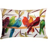 Flocked Together Birds Pillow