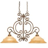 Hamilton 2 Light Kitchen Island Pendant in Antique Copper